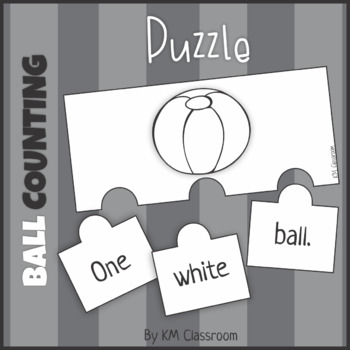 Emergent Reader Counting Beach Balls Puzzle