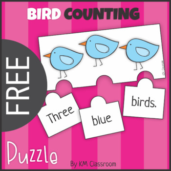 FREE Emergent Reader Counting Birds Puzzle