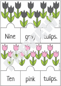 Emergent Reader Counting Tulips Puzzle