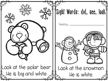 Emergent Reader Did, See, Look Winter Edition