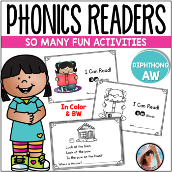 "Phonics Emergent Reader  {Diphthong ""AW""}"