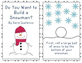 """Emergent Easy Reader: """"Do You Want to Build A Snowman?"""""""