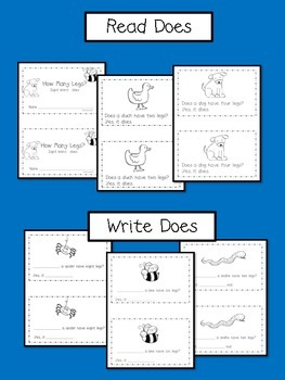 Animal Emergent Reader {Sight Word:  Does}