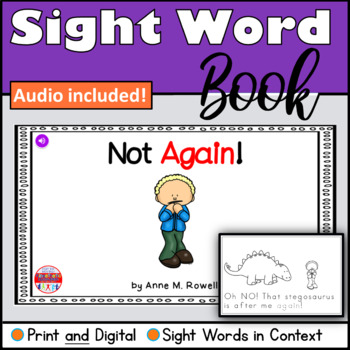 Sight Word Book Emergent Reader - AGAIN