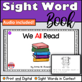 Sight Word Book Emergent Reader for the word ALL Print and Digital with Audio