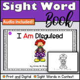 Sight Word Book Emergent Reader for the word AM Print and Digital with Audio