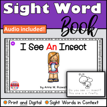 Sight Word Book Emergent Reader - AN