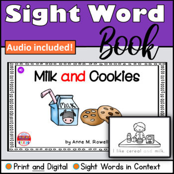 Sight Word Book Emergent Reader - AND