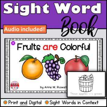 Sight Word Book Emergent Reader - ARE