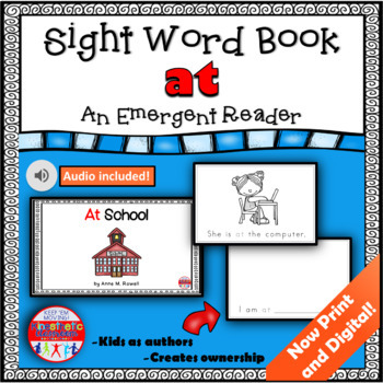 Sight Word Book Emergent Reader - AT