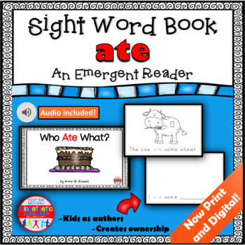 Sight Word Book Emergent Reader - ATE