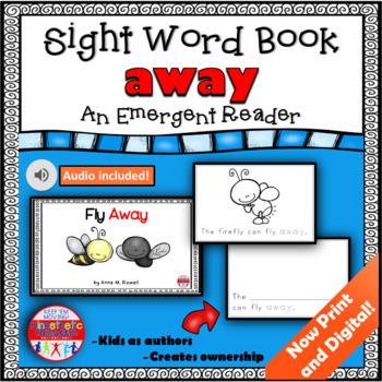 Sight Word Book Emergent Reader - AWAY
