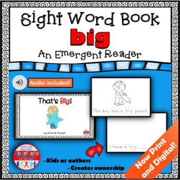 Sight Word Book Emergent Reader - BIG