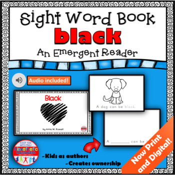 Sight Word Book Emergent Reader - BLACK