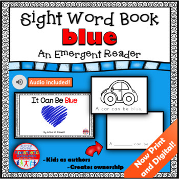 Sight Word Book Emergent Reader - BLUE
