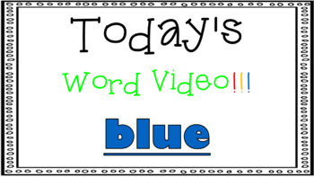 Sight Word Book Emergent Reader - BLUE