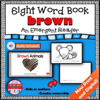 Sight Word Book Emergent Reader - BROWN
