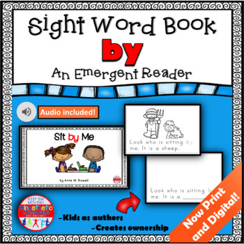 Sight Word Book Emergent Reader - BY