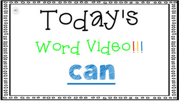 Sight Word Book Emergent Reader - CAN