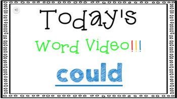 Sight Word Book Emergent Reader - COULD