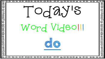 Sight Word Book Emergent Reader - DO