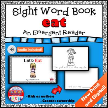 Sight Word Book Emergent Reader - EAT