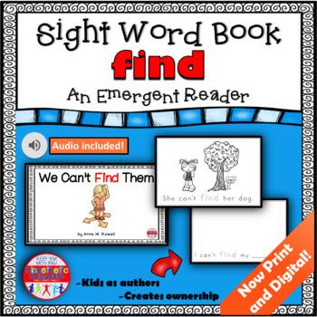 Sight Word Book Emergent Reader - FIND