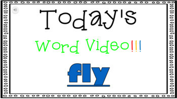 Sight Word Book Emergent Reader -  FLY