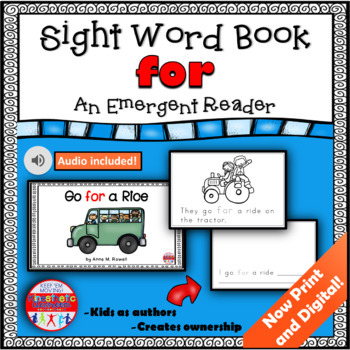 Sight Word Book Emergent Reader - FOR