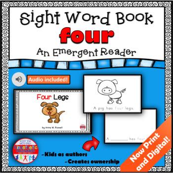 Sight Word Book Emergent Reader - FOUR