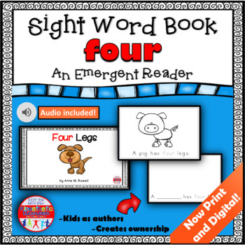 Sight Word Book Emergent Reader - FOUR