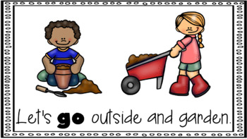 Sight Word Book Emergent Reader - GO