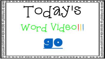 Sight Word Book Emergent Reader - GO