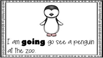 Sight Word Book Emergent Reader - GOING