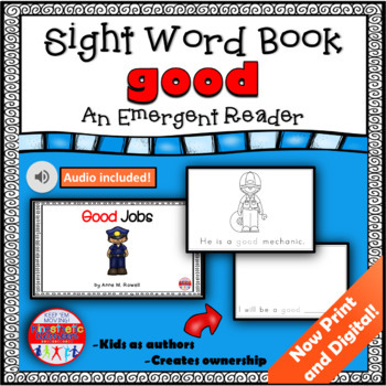 Sight Word Book Emergent Reader - GOOD