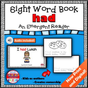 Sight Word Book Emergent Reader - HAD