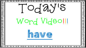 Sight Word Book Emergent Reader - HAVE