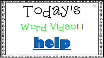Sight Word Book Emergent Reader - HELP