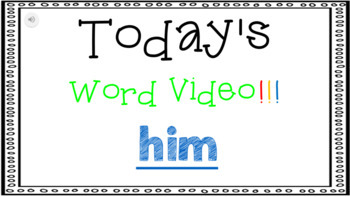 Sight Word Book Emergent Reader - HIM