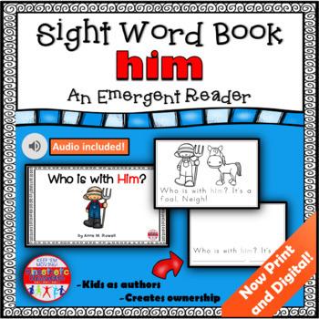 Sight Word Book Emergent Reader - HIM