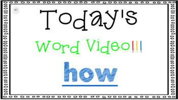 Sight Word Book Emergent Reader - HOW