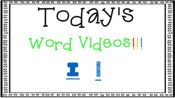 Sight Word Book Emergent Reader - I
