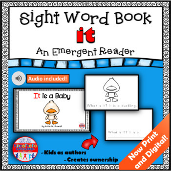 Sight Word Book Emergent Reader - IT