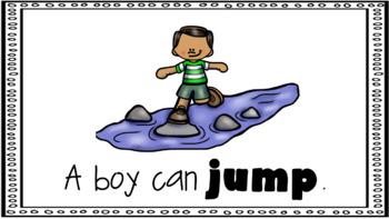 Sight Word Book Emergent Reader - JUMP