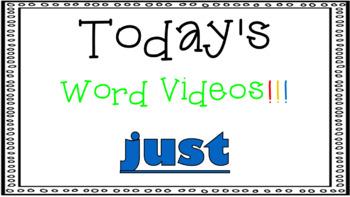 Sight Word Book Emergent Reader - JUST