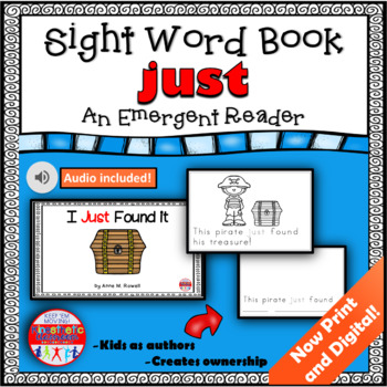Sight Word Book Emergent Reader - JUST