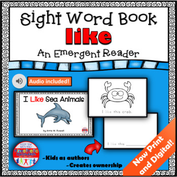 Sight Word Book Emergent Reader - LIKE