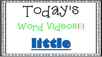 Sight Word Book Emergent Reader - LITTLE