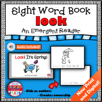 Sight Word Book Emergent Reader - LOOK