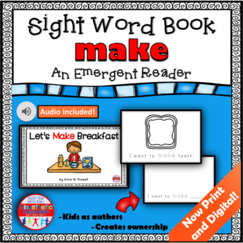 Sight Word Book Emergent Reader - MAKE